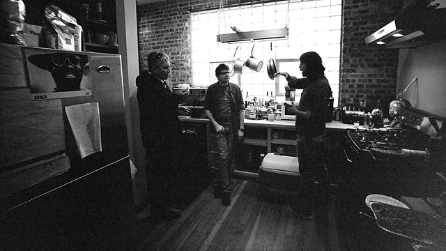 Pat Smear, Steve Albini et Dave Grohl à l'Electric Audio