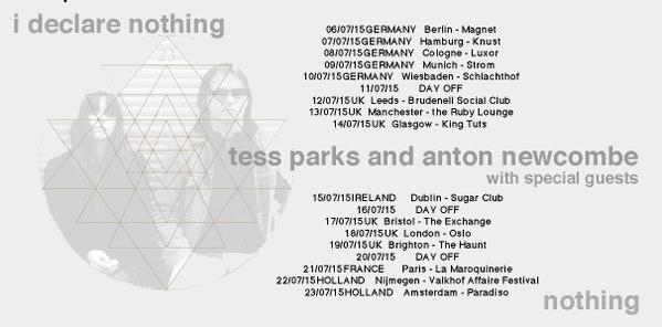 Tess Parks & Anton Newcombe tour 2015