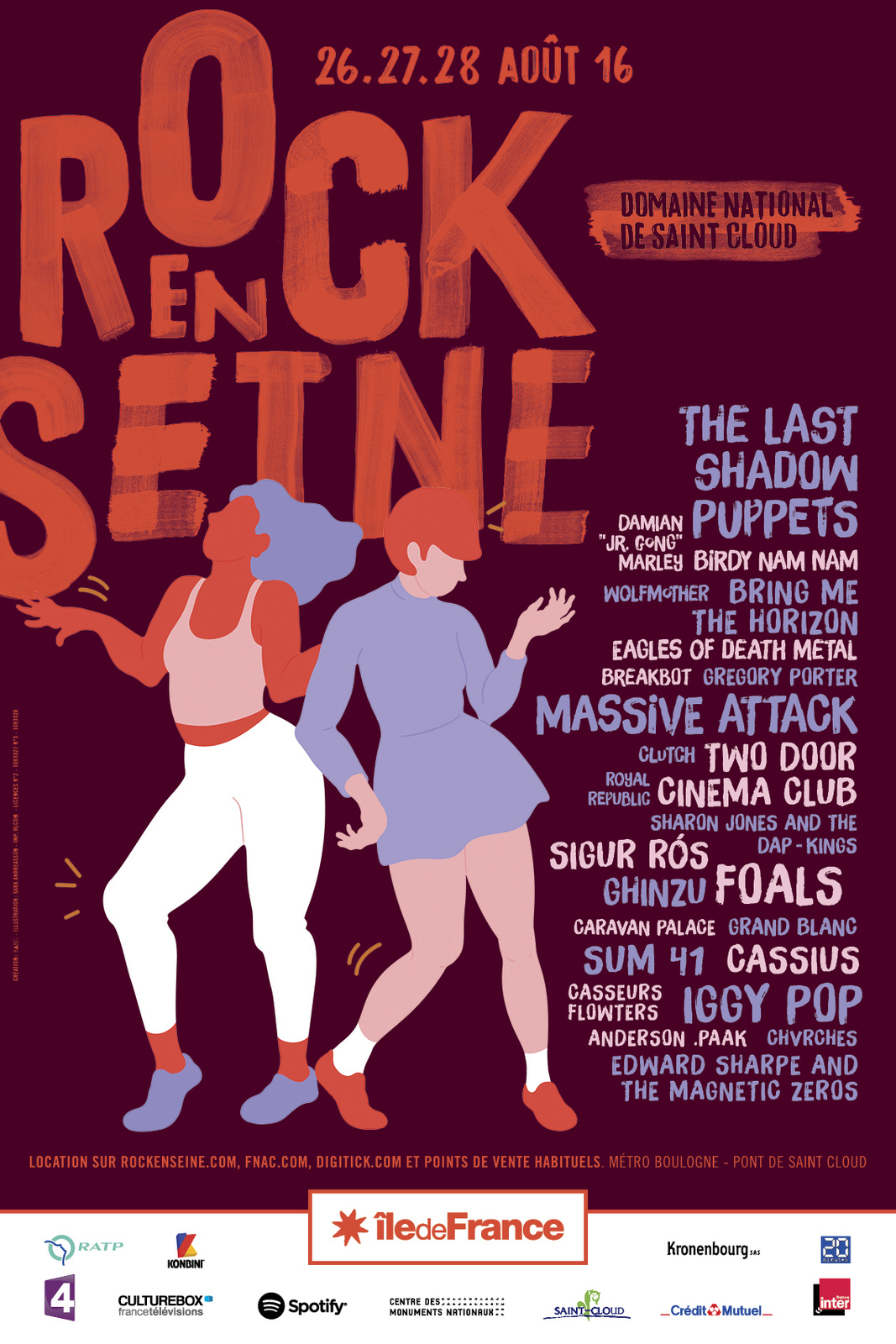 Affiche Rock en Seine 2016