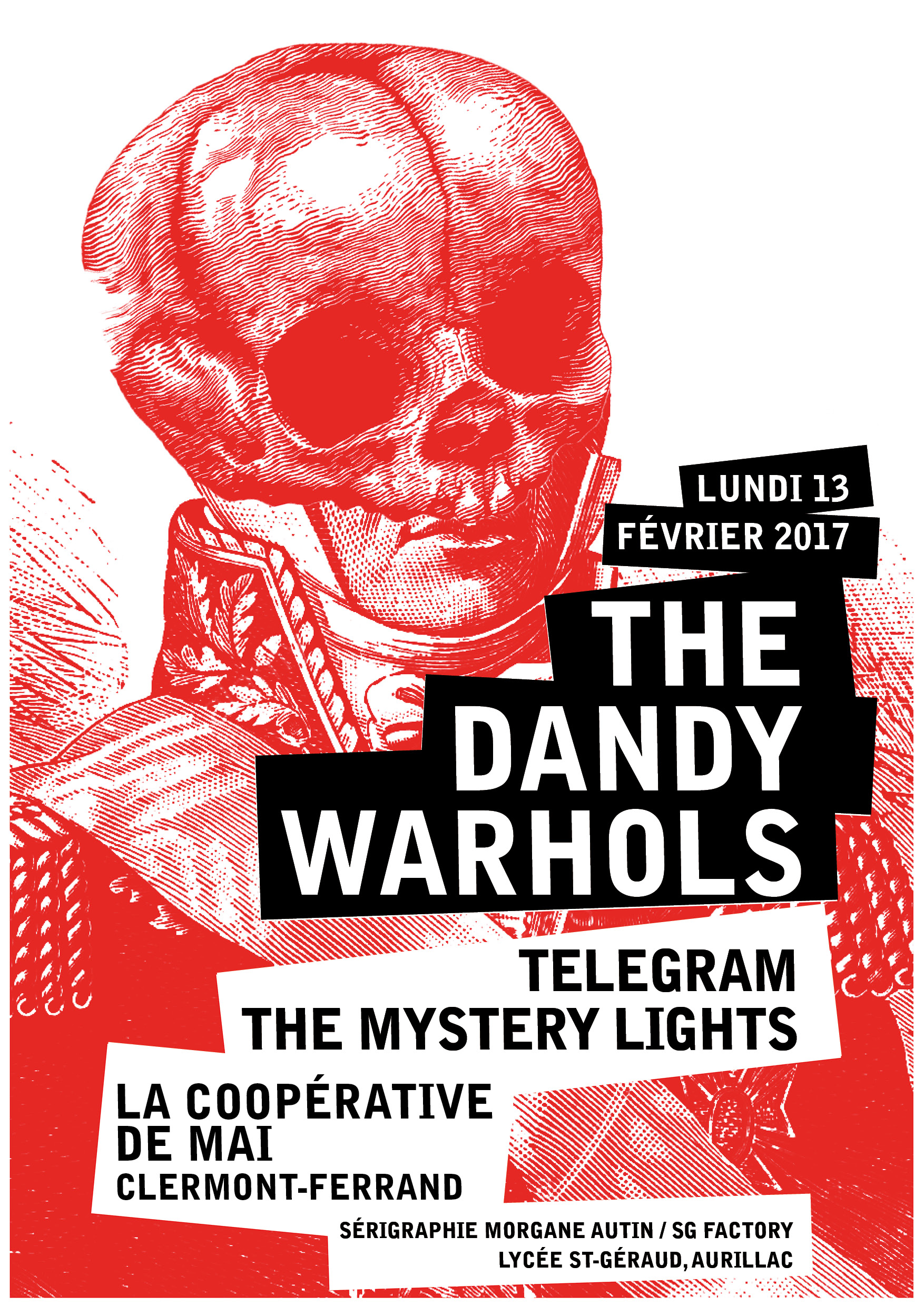Affiche The Dandy Warhols, Telegram & The Mystery Lights @ La Coopérative de Mai