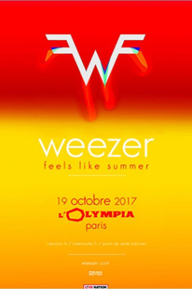 Weezer en concert à Paris, l'Olympia le 19 octobre 2017